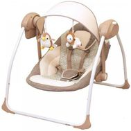 Balansoar portabil cu conectare la priza Peaceful Dreams brown - Baby Mix - Baby Mix