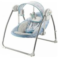 Balansoar portabil cu conectare la priza Peaceful Dreams Blue - Baby Mix - Baby Mix