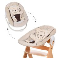 Sezlong Alpha Bouncer 2 in 1 Hearts Beige - Hauck - Hauck