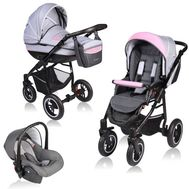 Carucior Crooner 3 in 1 - Vessanti - Pink/Gray - Vessanti