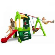 Leagan 2 in 1 + Tobogan + Spatiu de joaca - Little Tikes - Little Tikes