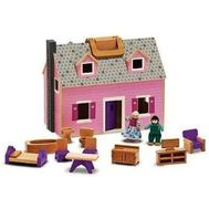 Casuta de papusi din lemn pliabila - Melissa and Doug - Melissa and Doug