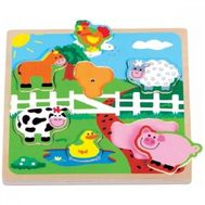 Puzzle Ferma cu Sunete - New Classic Toys - New Classic Toys