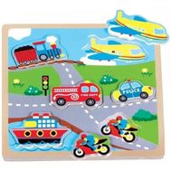 Puzzle Transport cu Sunete - New Classic Toys - New Classic Toys