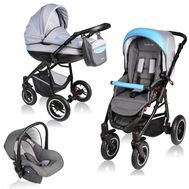 Carucior Crooner 3 in 1 - Vessanti - Blue/Gray - Vessanti