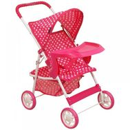 Carucior Pentru Papusi Pink Spotted - Baby Mix - Baby Mix