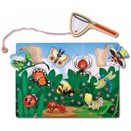 Joc din lemn magnetic Prinde insectele - Melissa and Doug - Melissa and Doug
