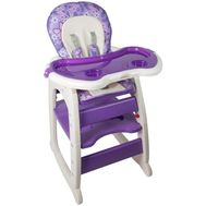 Scaun de masa multifunctional Baby Place, Mamakids, Mov cu Fluture - Kidcity