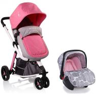 Carucior Copii 3 In 1 Sarah Grey and Pink - Cangaroo - Cangaroo