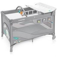 Patut pliabil Dream cu 2 nivele Light Grey - Baby Design - Baby Design