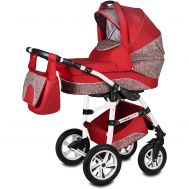 Carucior Flamingo Easy Drive 3 in 1 - Vessanti - Red - Vessanti
