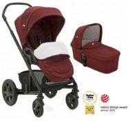 Joie – Carucior multifunctional Chrome Deluxe Cranberry 2 in 1, editie limitata - Joie