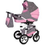 Carucior Flamingo Easy Drive 3 in 1 - Vessanti - Gray/Pink - Vessanti