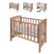 Patut co-sleeping 85x48 cm cu laterala culisanta Dreamy Mini Natur + saltea  - Treppy