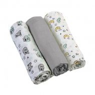 Set 3 scutece textile din muselina 70x70 cm Baby Ono gri, 100% bumbac - Baby Ono