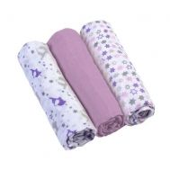 Set 3 scutece textile din muselina 70x70 cm Baby Ono violet, 100% bumbac - Baby Ono