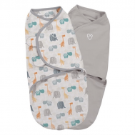 Swaddle Me - Sistem de infasare 2 piese Jungle, 0-3 luni - Summer Infant