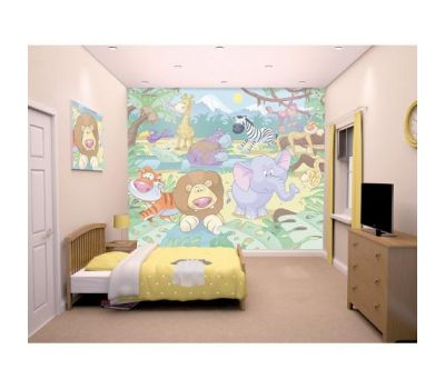 Tapet pentru Copii Baby Jungle Safari - Walltastic - Walltastic