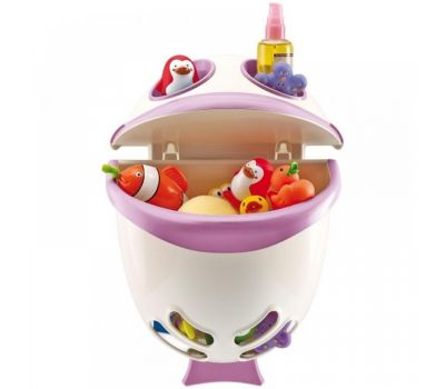 Suport pentru pastrarea jucariilor si a samponului Bubble Fish - Thermobaby - Orchidee - Thermobaby