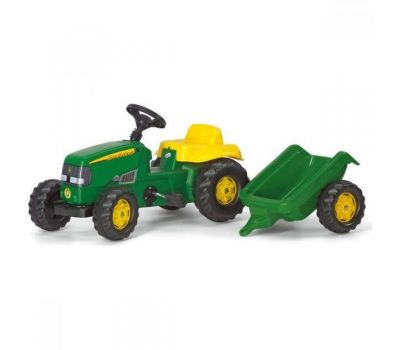 Tractor Cu Pedale Si Remorca Copii 012190 - Rolly Toys - Rolly Toys