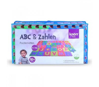 Covor puzzle din spuma Alphabet and Numbers 36 piese - Knorrtoys - Knorrtoys