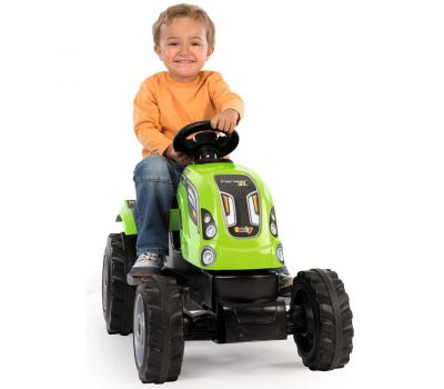 Tractor cu pedale si remorca Farmer XL - Smoby - Verde - Smoby
