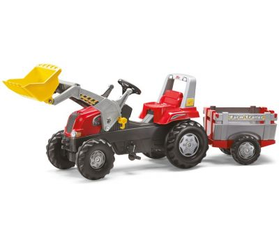 Tractor Cu Pedale Si Remorca Copii 811397 - Rolly Toys - Rolly Toys
