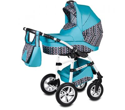 Carucior Flamingo Easy Drive 3 in 1 - Vessanti - Turquoise - Vessanti