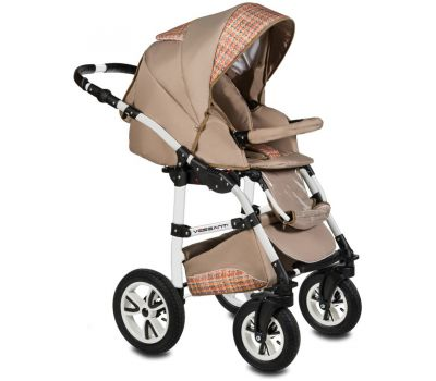 Carucior Flamingo Easy Drive 3 in 1 - Vessanti - Beige - Vessanti